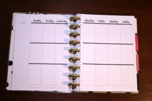 Happy Planner Weekly View
