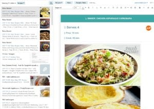 Evernote save recipes